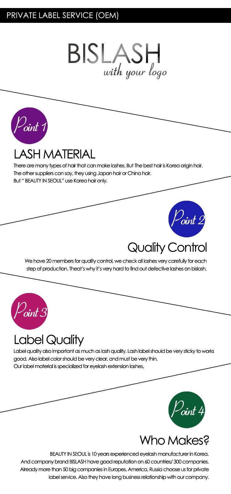 15d060fa979 BISLASH/ MINK LASH Eyelash extensions manufacturer in KOREA, View ...