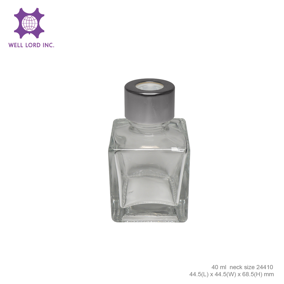 Flowery Fragrances Reed Diffuser cube size glass bottle room fragrances