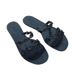 Flat Sole Sandal Summer Pcu Slipper Nice Girl New Style Pvc Shoes Woman Lady