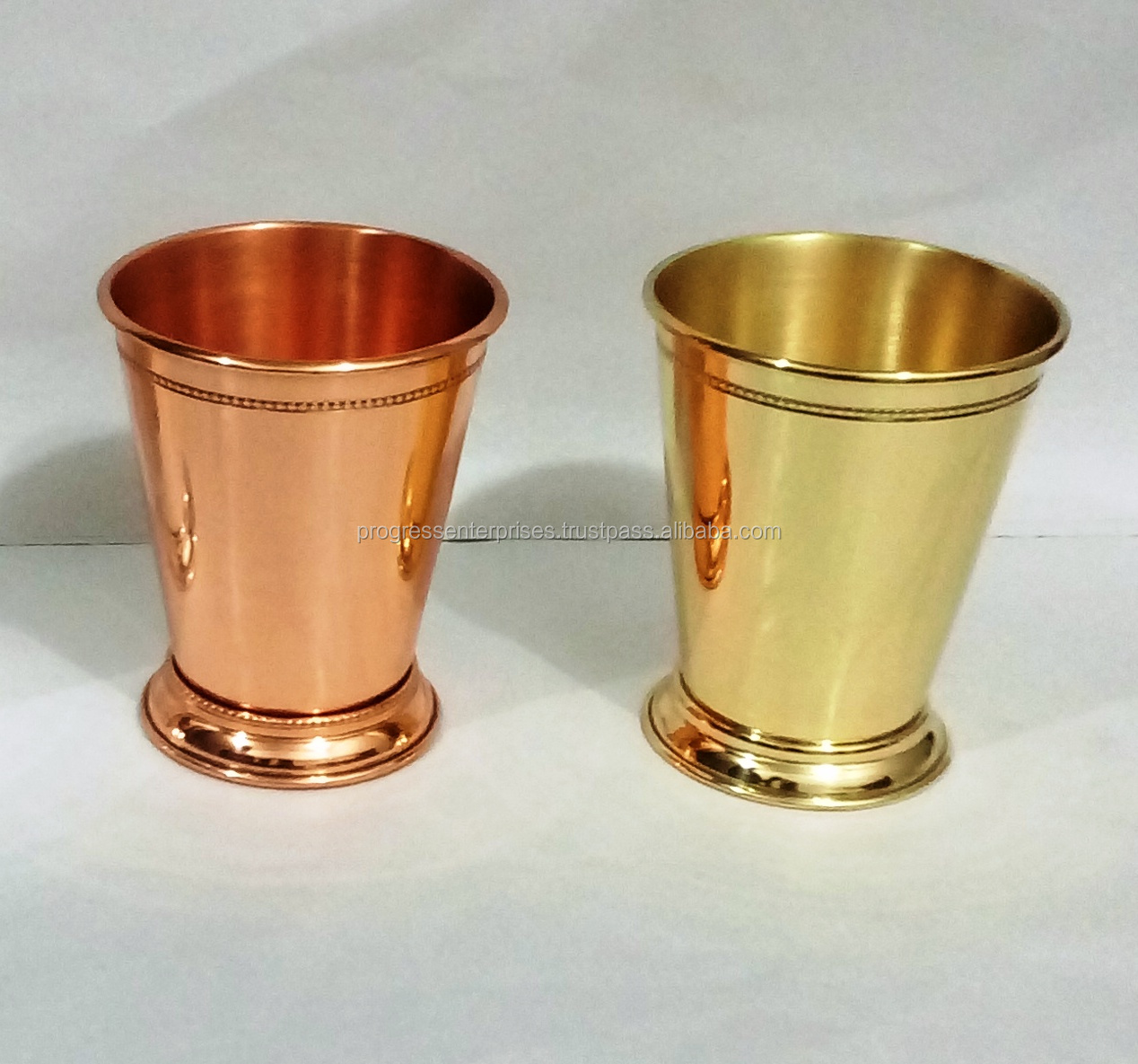 PROMOTIONAL COPPER CUP WHISKY BRANDY RUM