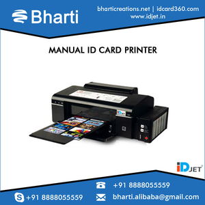 Manual ID Card Printer for blank PVC Card/Smart Card Printing