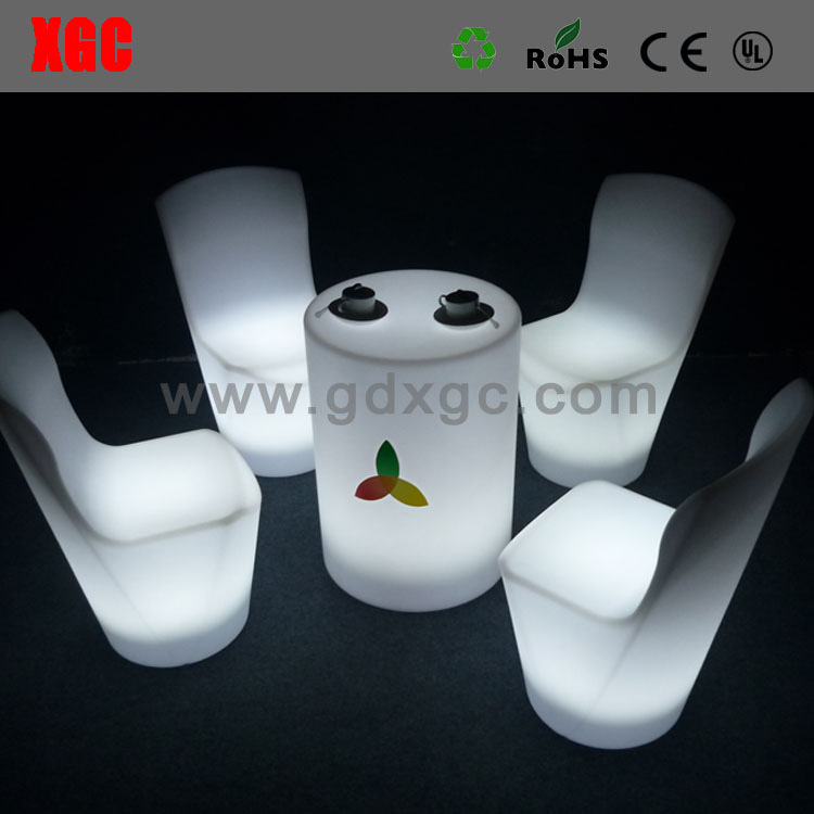 New Style led bar chair/Led furniture led table and chairs/light up plastic chair
