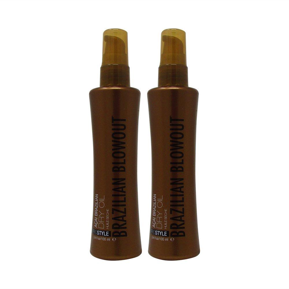Bundle-2 Items : Brazilian Blowout Acai Dry Oil, 3.4 Fl. Oz (Pack of 2)