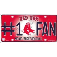 Boston Red Sox #1 Fan License Plate--Officially Licensed