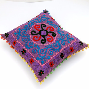 Ethnic suzani embroidered indian pillow cases wholesale decor gift handmade cushion cover