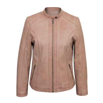 46d398d5139d Baby Pink Women Casual Leather Jacket - Buy Wholesale Baby Pink ...