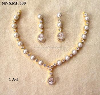 ca84dae1aca Latest Wholesale American Diamonds Cz Bridal Gold Plated Choker Necklace -  Buy Bridal Choker Necklace