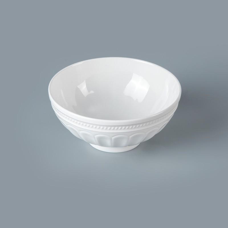 product-White Bone China Hotel RestaurantTableware Rice Soup Noodle Bowl, Restaurant Hotel Supplies