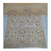 New arrival 3d Heavy beaded lace fabric for african dress