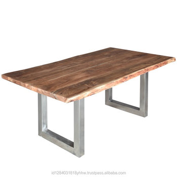 suar wood tama stainless steel dining table furniture. Suar Wood Tama Stainless Steel Dining Table Furniture   Buy