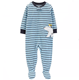 Cheap wholesale Zip-Up 1-Piece Striped Polar Bear Fleece baby PAJAMAS baby onesie romper jumpsuit for autumn and winter