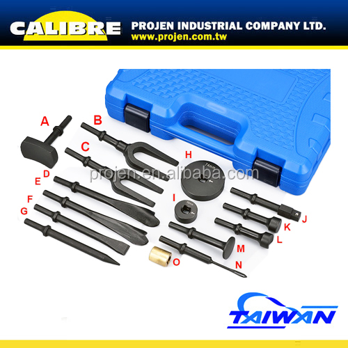 CALIBRE Pneumatic Tool 15PC Vibro Chisel Set Air Hammer and Chisel Set