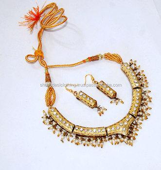 Rajputi Heavy Necklace Set With Earing Buy Ethnic Jaipuri Lakh