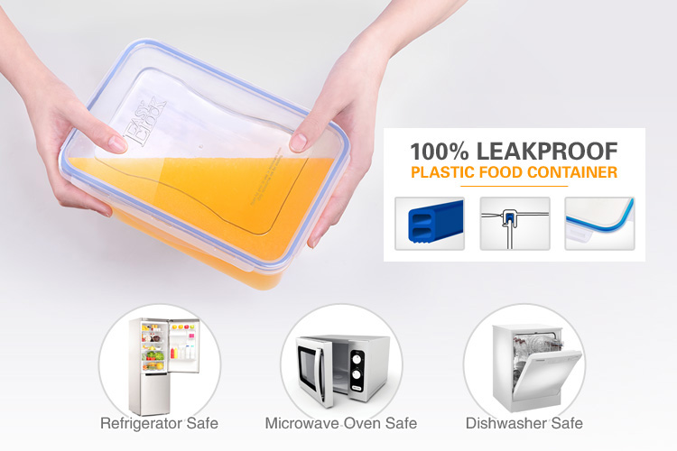 1150ml Rectangular large plastic storage containers