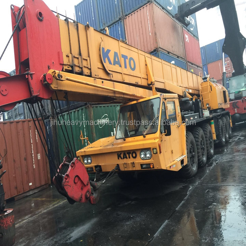 Low hours and mileage used truck crane good working condition 80 ton NK800 Kato used crane for sale