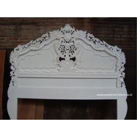 Antique European Home Furniture Bedroom Furniture Rococo Headboard French Style Wooden Bed Head Wood Frame Bed Head