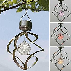 Solar Powered Solar Windchimes Light,MINGTU Waterproof LED Wind Chime Light, Wind Spinners Light by Hanging decorate Outdoor Garden Courtyard