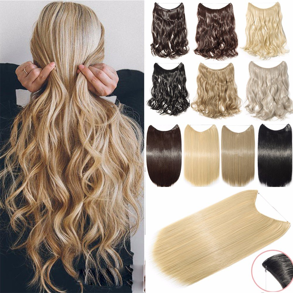 Clip-in Full Head Intelligent Full Shine Real Human Hair Clip In Extensions 9 Pieces #18 Ash Blonde And 613 Blonde Clip On Hair Highlights Full Head Extension Hair Extensions
