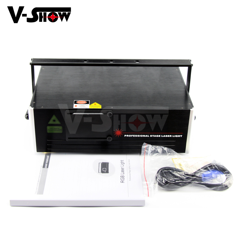 Sound system stage lighting 3d laser projector 2.4w rgb animation laser