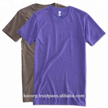 9e93056d3ca Custom Printed Tri blend T shirts 50% Polyester 35% Cotton 15% Rayon
