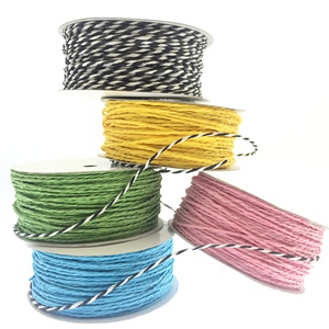 Colorful Craft Paper Rope Twine Cord String for DIY decorative