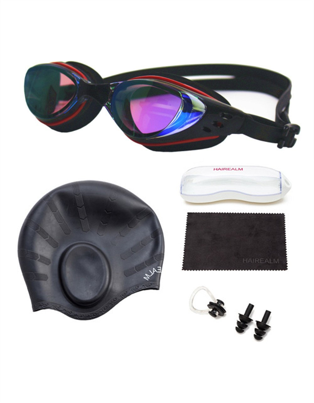 fa112519bc5 Get Quotations · HAIREALM Swiming goggles