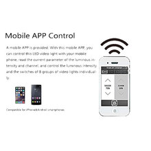 Mobile application light intensity remote control