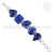 Royal blue lapis gemstone bracelet silver jewellery india 925 sterling silver jewelry handmade wholesaler