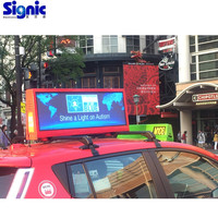 LED outdoor 3G/4G Wifi control taxi roof led display/led advertising screen/taxi top panel for car advertising