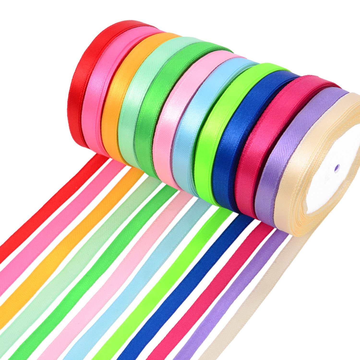 15mm Large Satin Ribbon Bows 10pk 30pk 50pk or 100pk Choose from 22 Colours