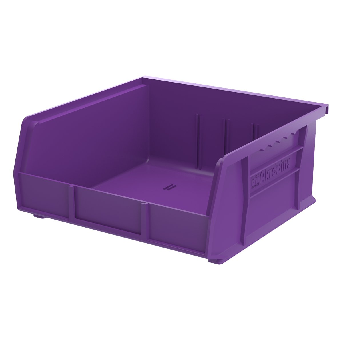 Akro-Mils 30235 Plastic Storage Stacking Hanging Akro Bin,11-Inch by 10-7/8-Inch by 5-Inch, Purple, 6-Pack