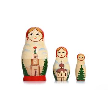 Three piece Vyatskaya Matryoshka Dolls, C-4 (706)