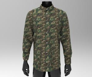 shirt man best military pattern digital print made in italy 100% cotton