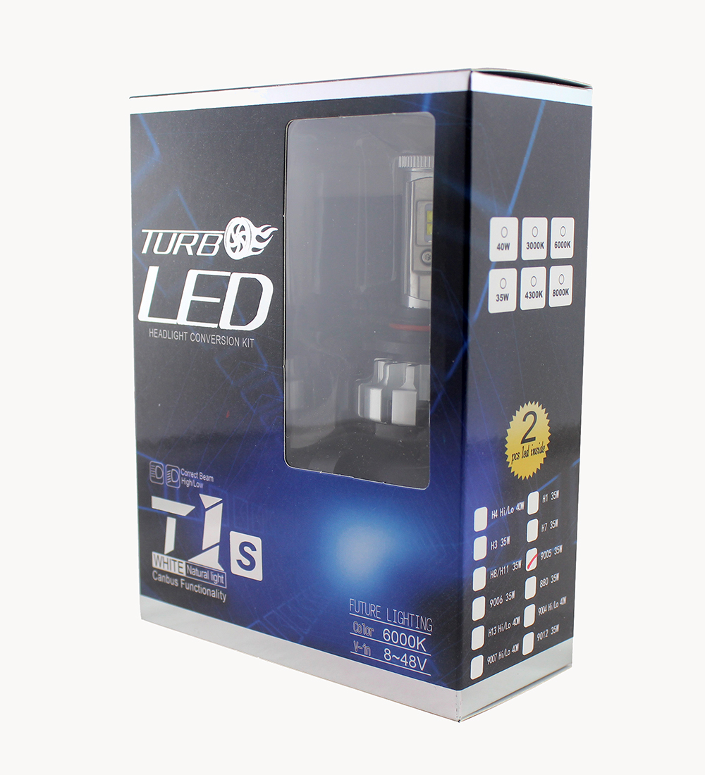 V16 H7 Turbo LED Headlight Conversion Kit 6000k White Canbus
