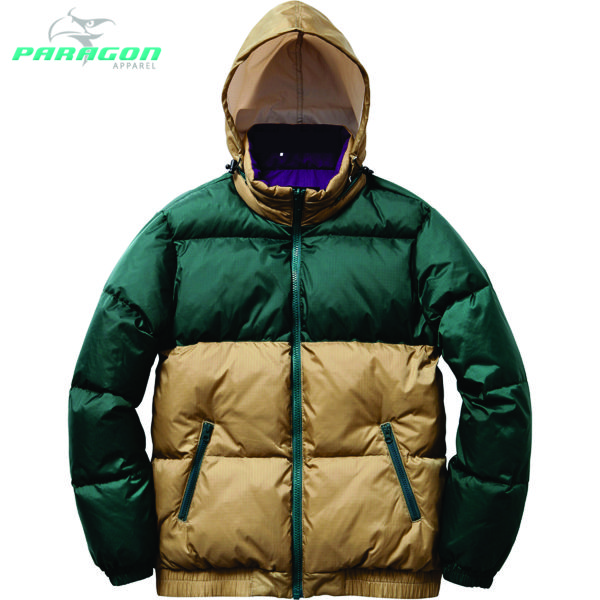 Mens Red Puffy Winter Jacket Look Reversible Feather Jacket