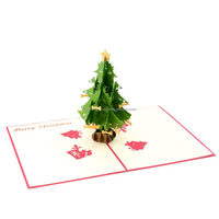 Handmade paper craft 3D pop up christmas greeting card ,christmas card