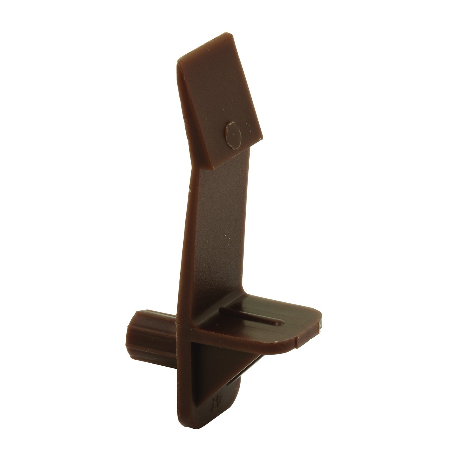 Brown, Self-Locking 1//2-Inch Shelf Pack of 6 Slide-Co 243415 Shelf Support Peg 1//4-Inch