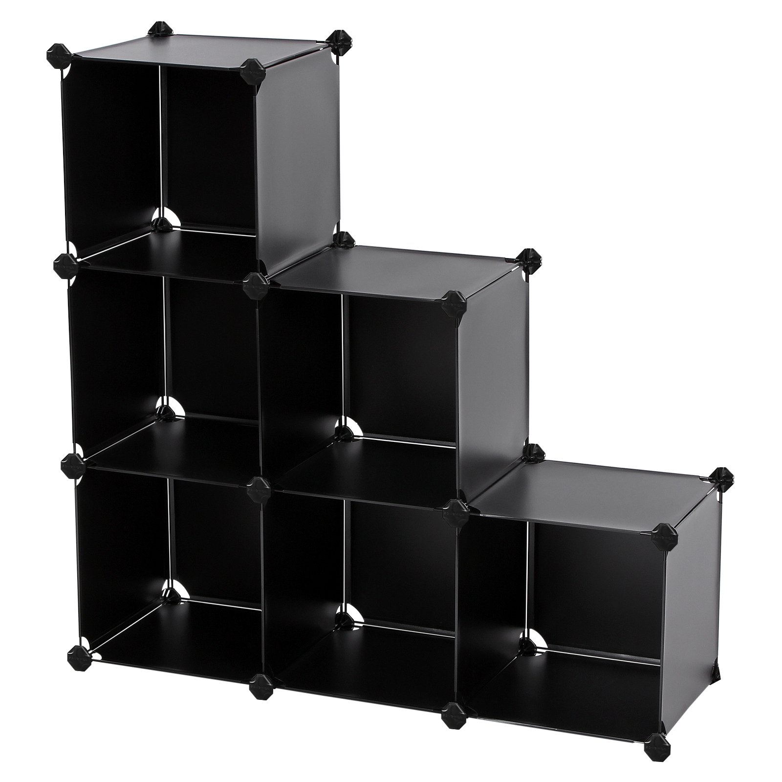 Songmics Storage Cube Organizer Diy Plastic Closet Shelf With Rubber Hammer 6 Bookcase Cabinet