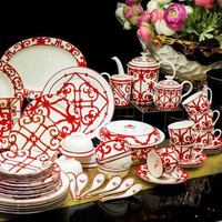 High Grade Ceramic Dinnerware Set Fine Bone China Tableware Set