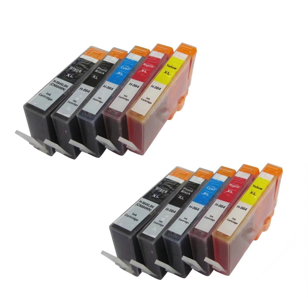 Generic Compatible Ink Cartridge replacement for HP 564XL (BK/PBK/C/M/Y, 10-Pack)