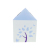Small Flat Packing corrugated Carton paper house shaped box