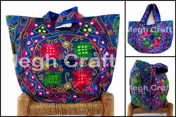 795c2a7f30 Women Latest Boho Banjara Handbags - kutch Embroidered Mirror Work  HandBags-Traditional Kutch Handbags