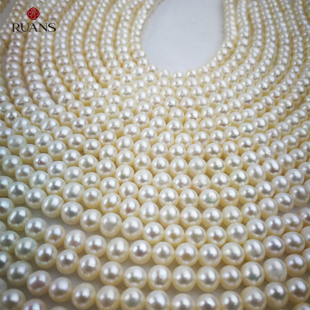 5.5-6 mm A1 Freshwater Cultured Pearl Strands