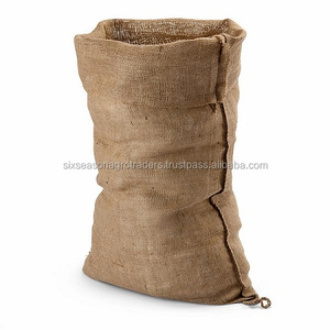 Large fine mesh jute burlap bag coffee bean packaging jute bag