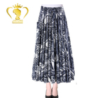 Custom China Factory price paisley printed womens ethnic traditional indian designer print long skirts