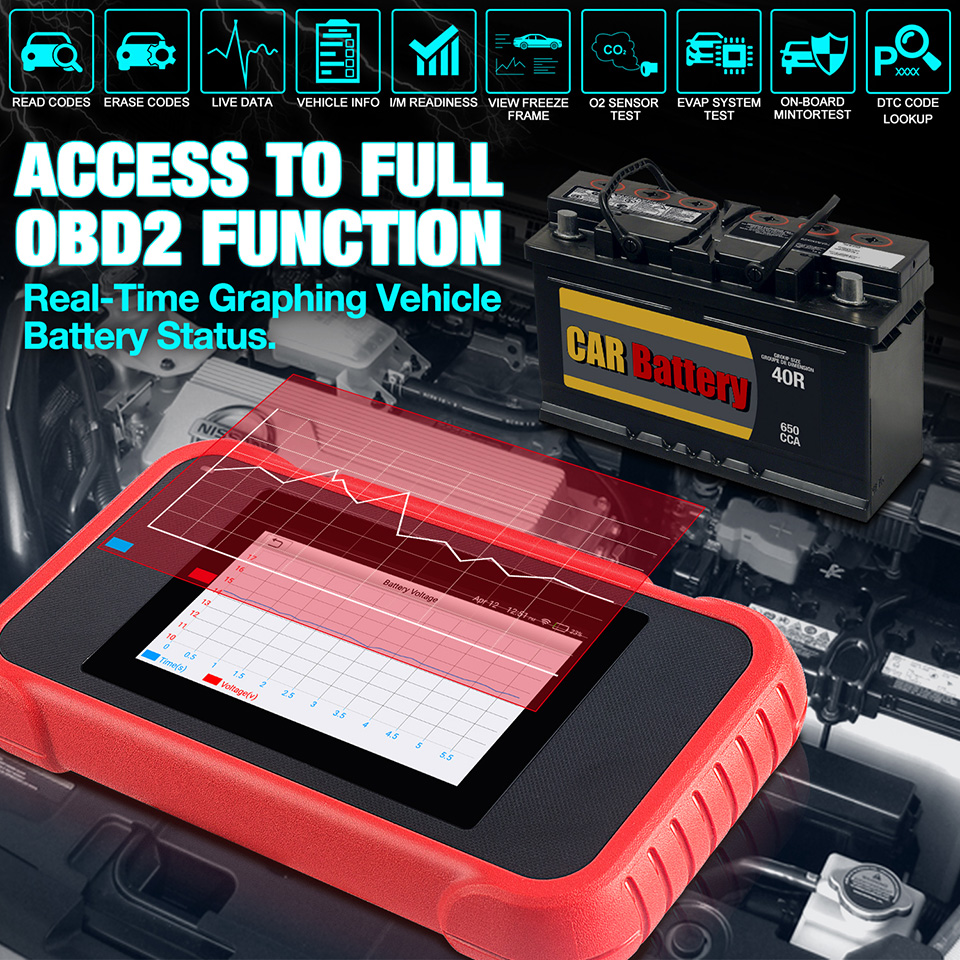 LAUNCH X431 CRP123E car diagnostic scanner Support Engine/ABS Airbag/SRS/Transmission Upgraded Version of CRP123/Creader VII+