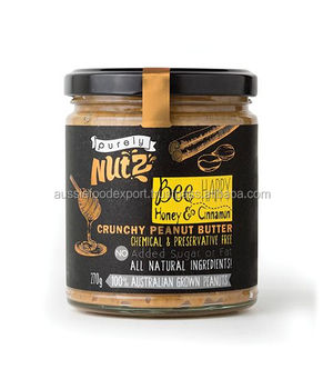 Honey & Cinnamon Peanut Butter 270g x 6 -- Australian Made