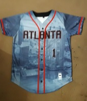 Atlanta Button Baseball Jerseys