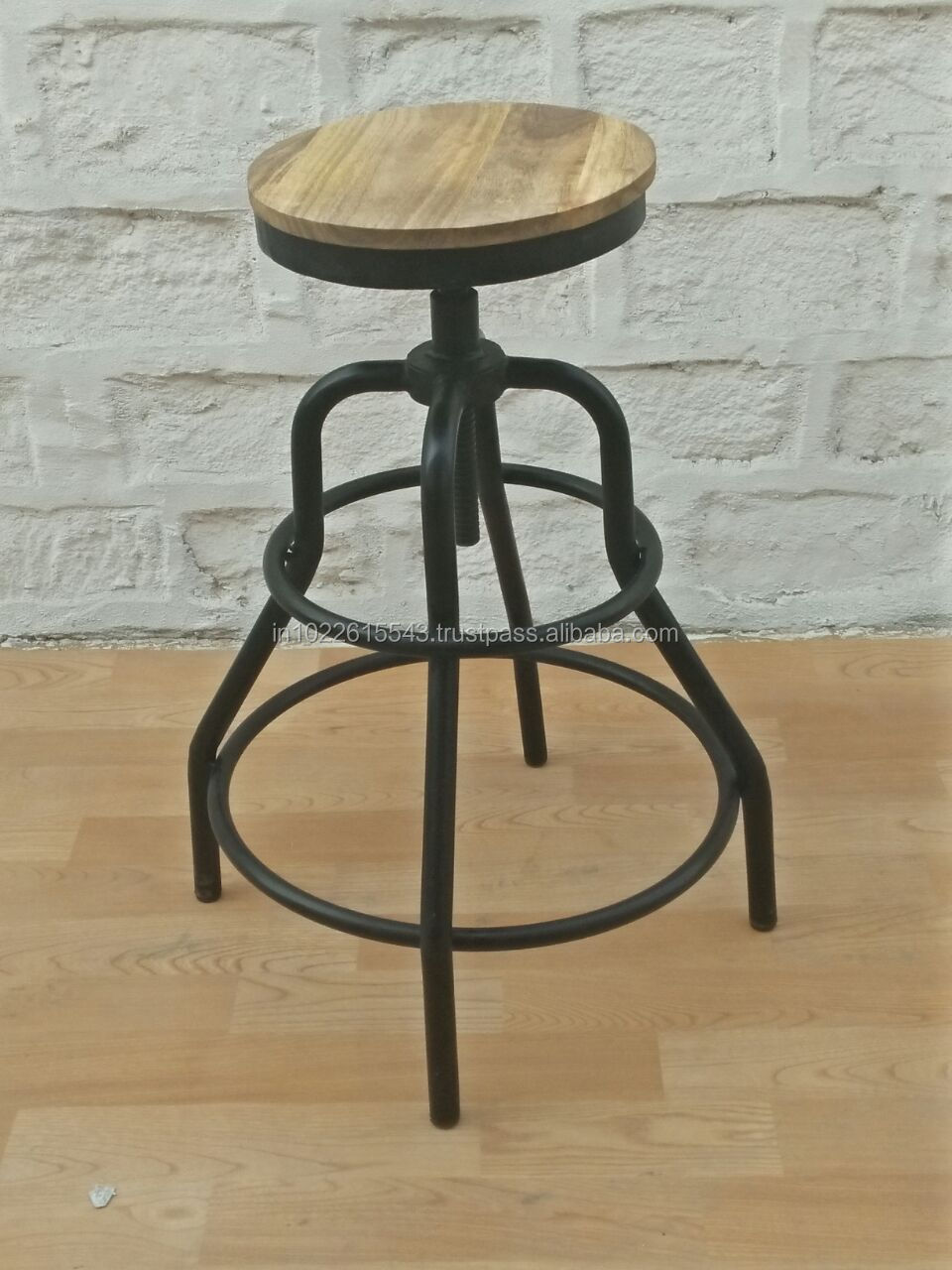 fc4a04b8acb54 Industrial Artificial Leather Bar Stool