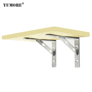 TV table&cabinet folding mounting triangle bracket stainless steel metal adjustable desk mount bracket